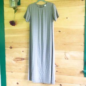 Eileen Fisher silk linen blend maxi dress